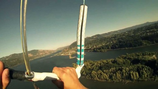 World Record Kiteboard flying at 790ft