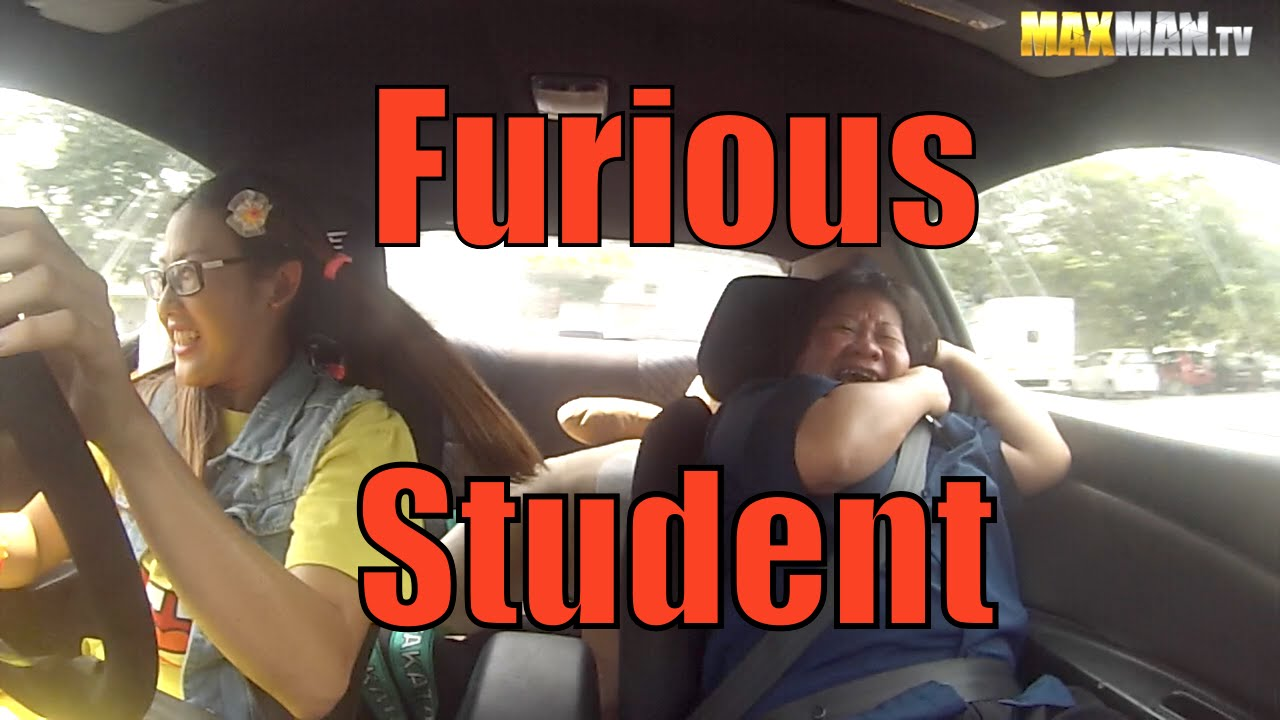 Extreme driving instructor prank