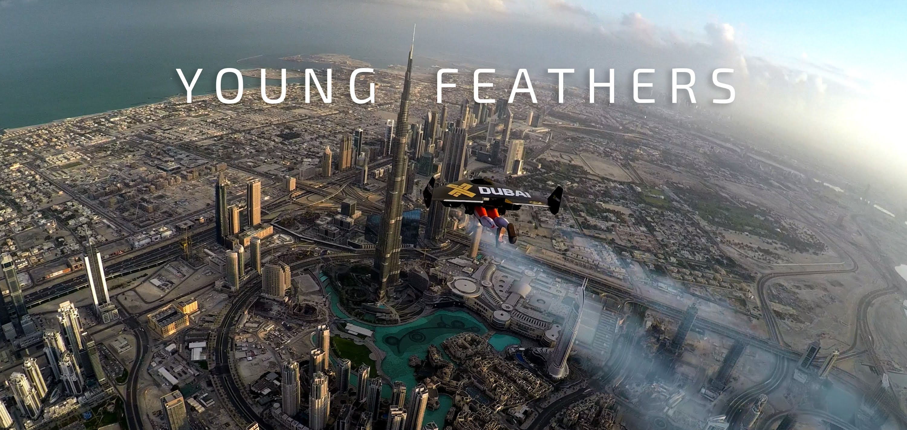 Flying with jetpacks over Dubai