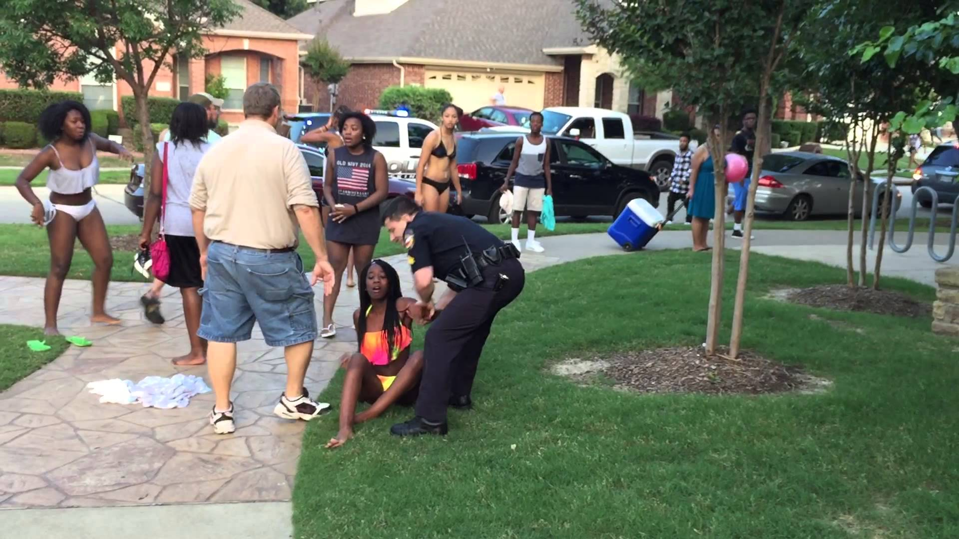 The cops crashed this pool party
