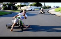 Epic tricycle drifting