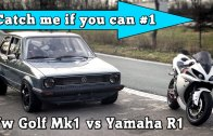 Yamaha R1 vs VW Golf Mk1
