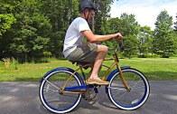 Backwards turning bicycle