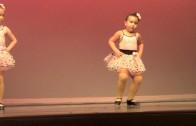 Cute girl dancing to Aretha Franklin