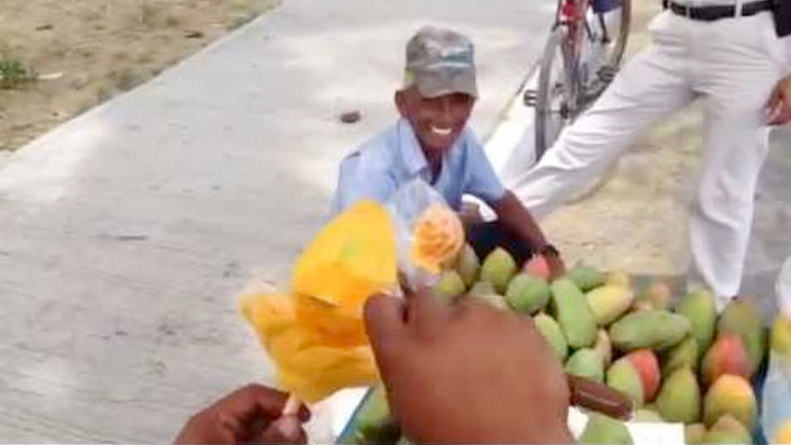 Mango cutting skills
