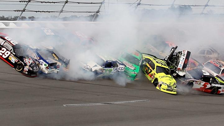 Nasty NASCAR crash