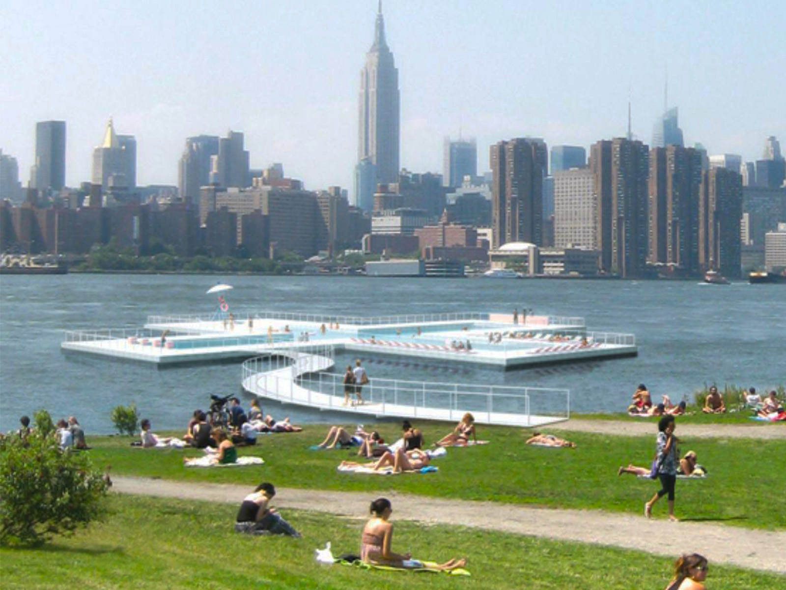 NYC river pool