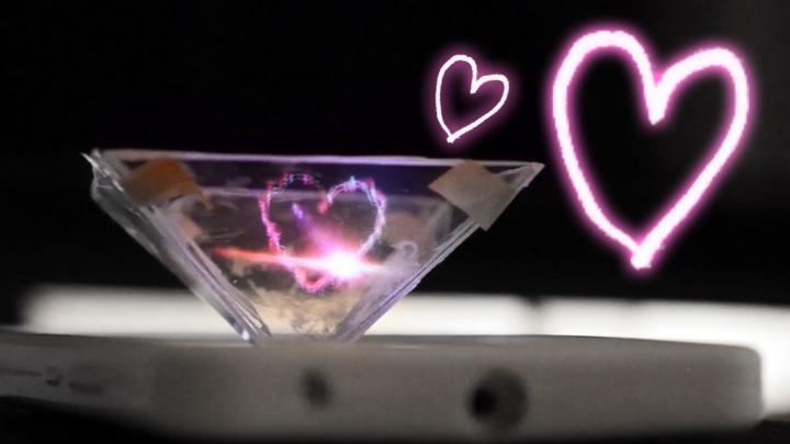 DIY 3D hologram using smartphone