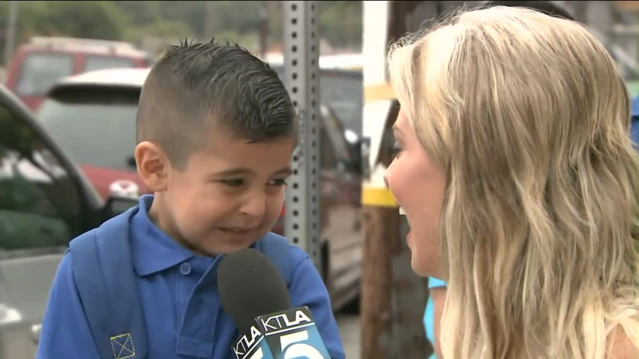 Reporter makes the kid cry