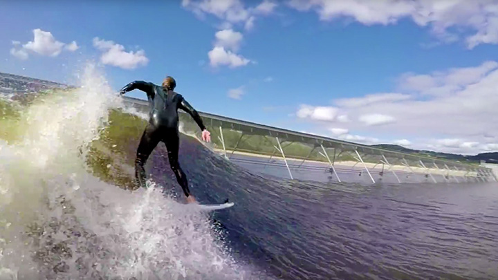 GoPro owner gives Artificial wave a try
