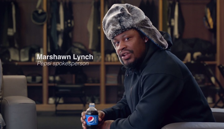Funny Marshawn Lynch Pepsi commercial