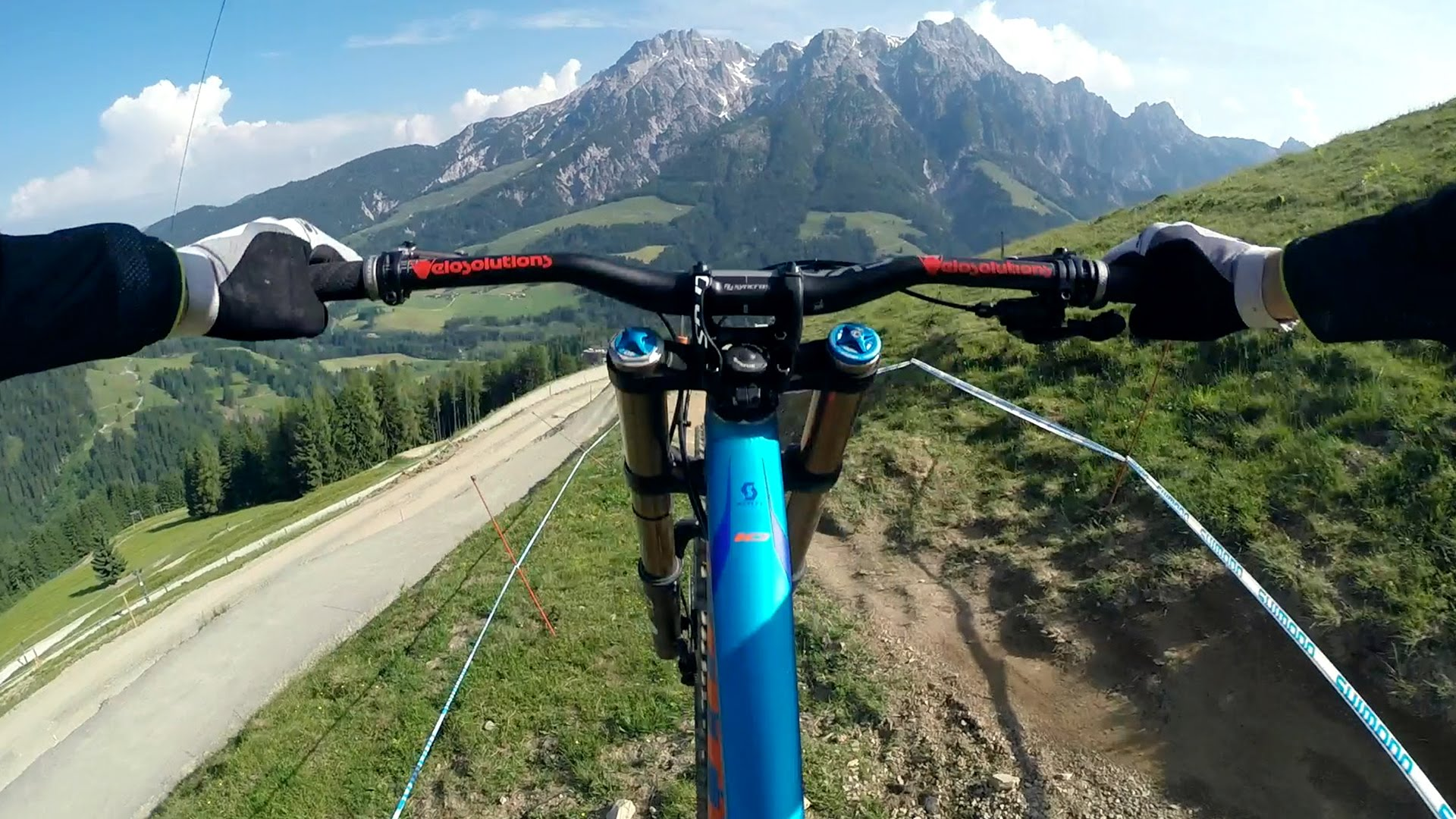 Crazy POV downhill ride