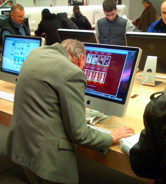 Pervert in Mac store