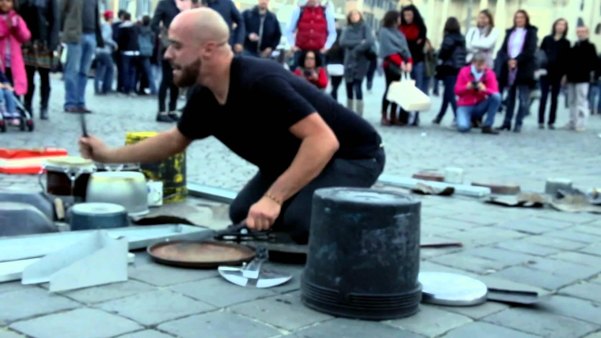 Rave street performer