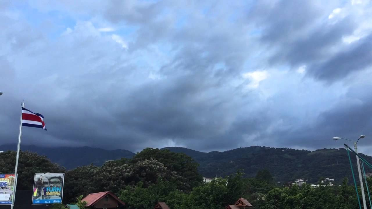 Strange cloud over Costa Rica