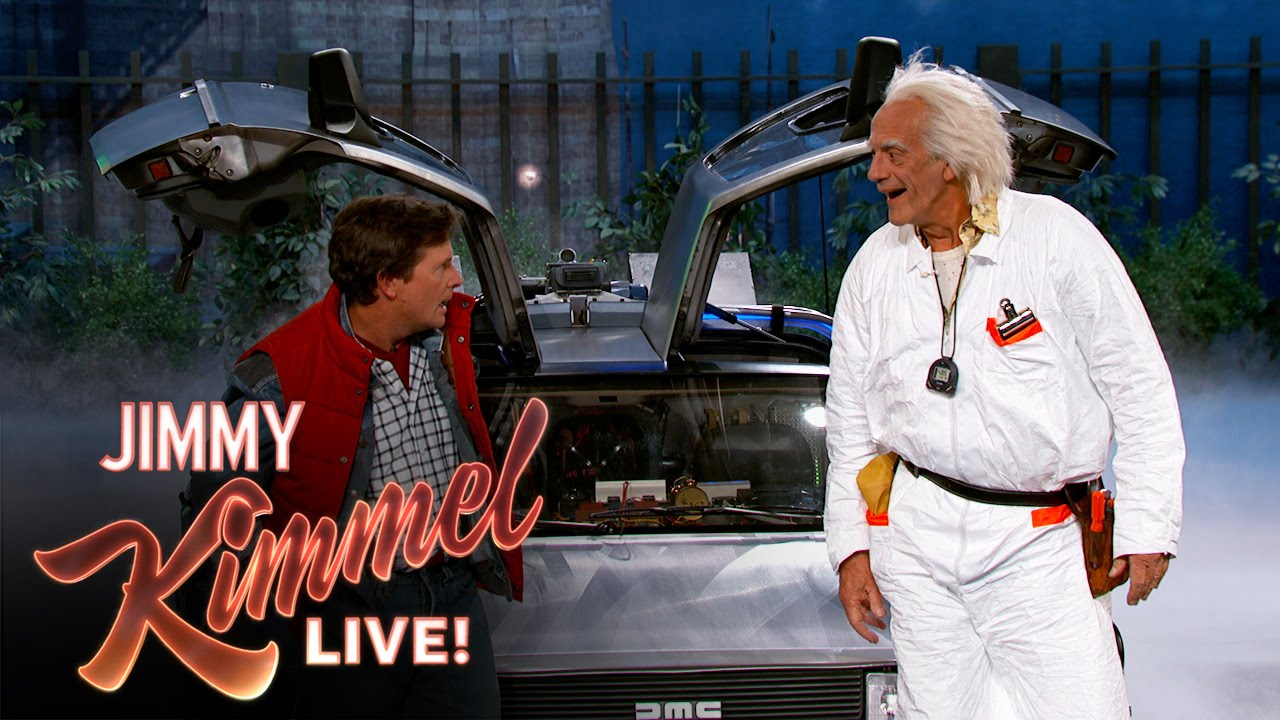 Back to the future visit Jimmy Kimmel