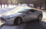 Aston Martin vs snow