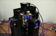Fast Rubik's cube solving robot