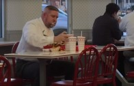 Just your regular guy enjoying lunch