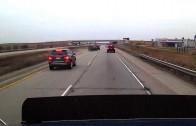 Tailgater car crash caught on dash cam
