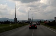 Driver blocks the ambulance on purpose