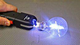 Taser vs light bulb
