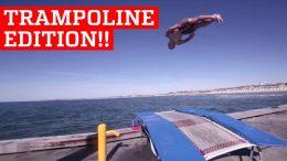 Incredible trampoline tricks