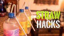 Super awesome lifehacks with straws