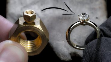 Turning 2 Hex Nuts into a Diamond Ring
