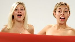 Women BFFs see each other naked