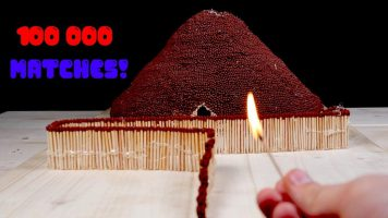 Fire Domino from Matches